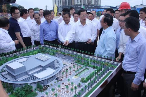 Phó Thủ tướng Quốc vụ viện Trung Quốc thăm và khảo sát Dự án xây dựng Cung Hữu nghị Việt – Trung