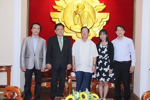 Chủ tịch Liên hiệp Vũ Xuân Hồng tiếp Đại sứ nước cộng hòa Phi-líp-pin