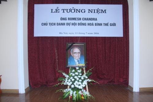 Lễ tưởng niệm ông Romesh Chandra, Chủ tịch danh dự Hội đồng hòa bình thế giới
